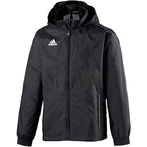 adidas Regenjacke Kinder schwarz/weiß
