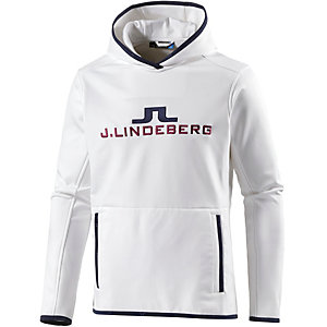 J.Lindeberg M Logo Hood Tech Jersey Kapuzenpullover Herren weiß