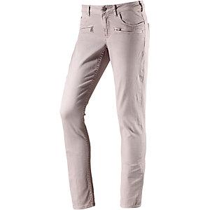 Maison Scotch Skinny Fit Jeans Damen hellgrau