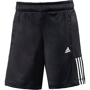 adidas Trainingshose Jungen schwarz/weiß
