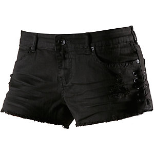 Billabong Lite Hearted Side Tie Jeansshorts Damen schwarz