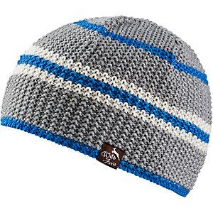 Wildzeit Strickmütze Querdenker grau-blau-weiß Beanie grau I