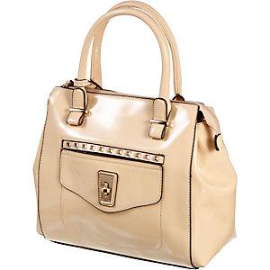 Buffalo Handtasche Damen nude/goldfarben