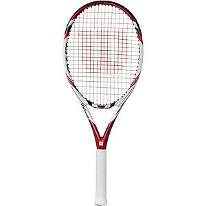 Wilson Five Lite 103 Tennisschläger burgund/weiß/grau