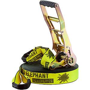 Elephant Slacklines Freak Slackline neongelb