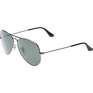 RAY-BAN Aviator 0RB3025 004/58 58 polarized Sonnenbrille silber/grau
