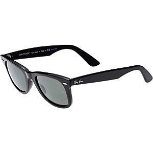 RAY-BAN Wayfarer ORB2140 901/58 50 polarized Sonnenbrille schwarz/schwarz