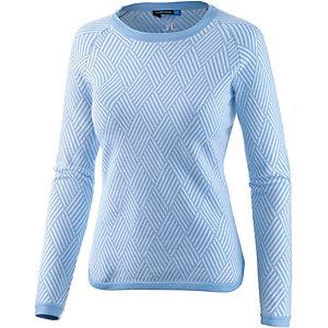 J.Lindeberg W Solene Intarsia Knit Rundhalspullover Damen blau/weiß