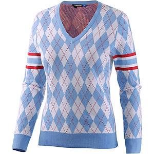 J.Lindeberg W Salma Intarsia Knit V-Pullover Damen blau/rot/weiß