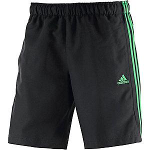 adidas Essential 3S Funktionsshorts Herren schwarz/grün
