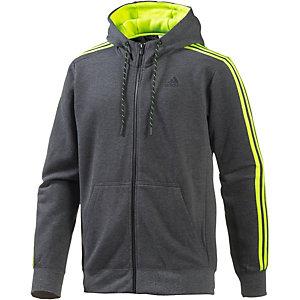 adidas Essential 3S FZ Sweatjacke Herren dunkelgraumelange