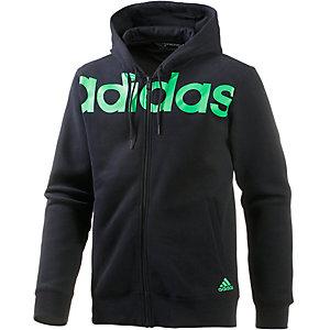 adidas Linear FZ Sweatjacke Herren schwarz