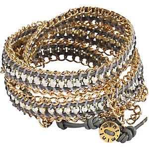 MINT Armband Damen grau/goldfarben