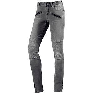 Maison Scotch Skinny Fit Jeans Damen dunkelgrau