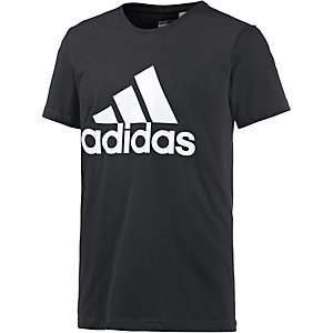 adidas Logo Funktionsshirt Herren schwarz