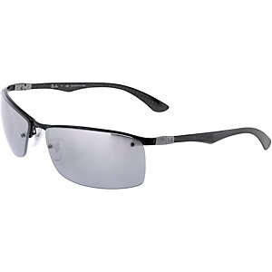 RAY-BAN ORB8315 002/82 63 polarized Sonnenbrille grau/transparent