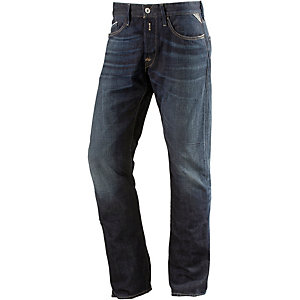 REPLAY Waitom Straight Fit Jeans Herren blue denim