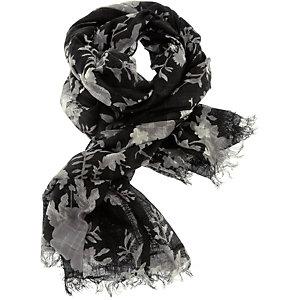 Kaffe Schal Damen schwarz