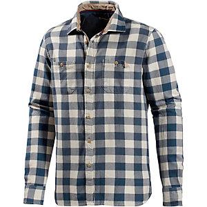 LTB Langarmhemd Herren blau/weiß
