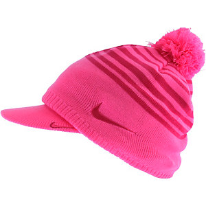 Nike Wmns Winter Knit Set Bommelmütze Damen pink