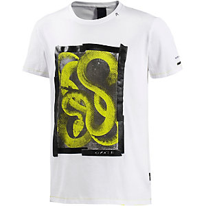 REPLAY T-Shirt Herren weiß/gelb