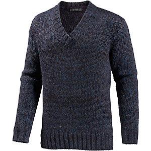 REPLAY V-Pullover Herren dunkelblau/bordeaux