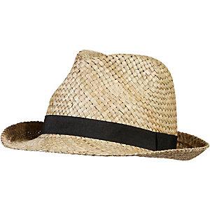 STÖHR beige schwarz Hut beige/schwarz