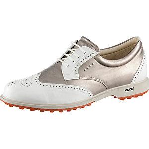 ECCO W Classic Hybrid Golfschuhe Damen weiß/bronze