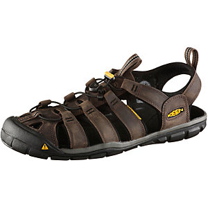 Keen Clearwater CNX Leather Outdoorsandalen Herren braun
