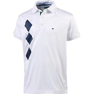 Tommy Hilfiger Marvel SS Argyle Print Polo Poloshirt Herren weiß