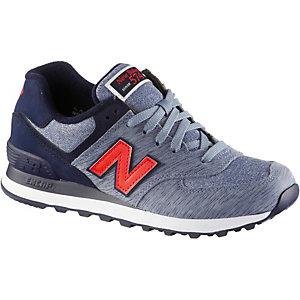 New Balance Grau Blau Rot