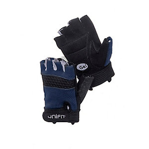 unifit Fitnesshandschuhe Herren grau/blau