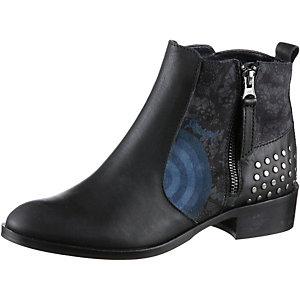 Desigual Chelsea Boots Damen schwarz/blau