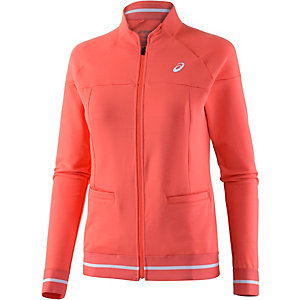 ASICS Club Knit Jacket Trainingsjacke Damen orange