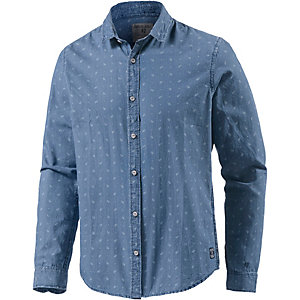 GARCIA Langarmhemd Herren blau