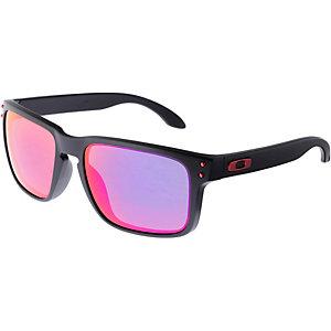 Oakley Holbrook Sonnenbrille matte black/positive red iridium