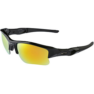 Oakley FLAK JACKET XLJ Sportbrille POLISHED BLACK/FIRE IRIDIUM