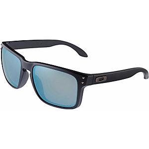 Oakley Holbrook Sonnenbrille MATTE BLACK/EMERALD IRIDIUM POLARIZED