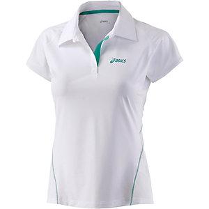 ASICS Poloshirt Damen weiß/türkis