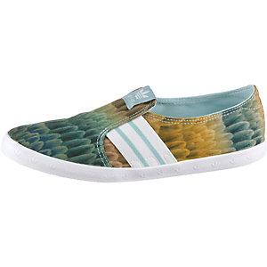 adidas Adria PS Slip-On Slipper Damen mint/bunt