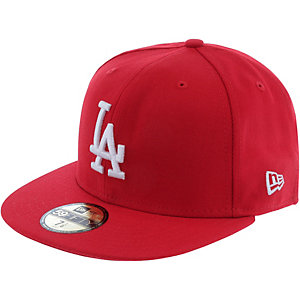 New Era 59fifty MLB Basic LA Dodgers Cap rot/weiß