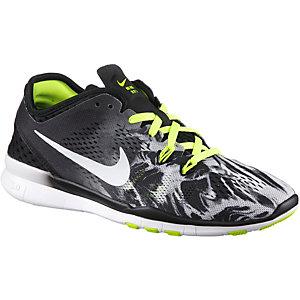 Nike Free 5.0 Trainer Fit 5 Print Fitnessschuhe Damen schwarz/limette