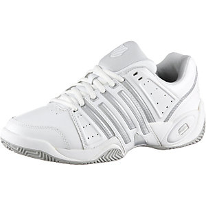 K-Swiss Accomplish II Leather Tennisschuhe Damen weiß/silberfarben