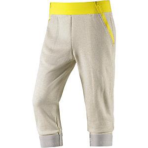 adidas Sweathose Damen hellgrau/gelb