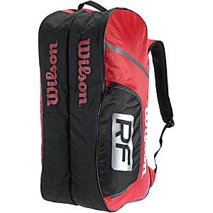 Wilson Federer Team 12 Pack Tennistasche rot/weiß