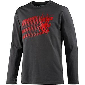 Spyder Graphic Shirt Langarmshirt Herren anthrazit/rot