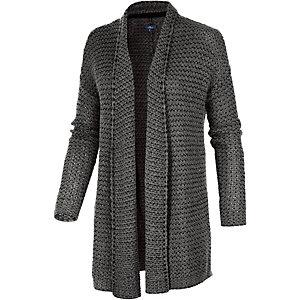 tom tailor shawl strickjacke damen grau im online shop von sportscheck kaufen. Black Bedroom Furniture Sets. Home Design Ideas