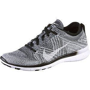 Nike Free Trainer Flyknit Fitnessschuhe Damen schwarz