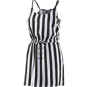 BLEND Trägerkleid Damen schwarz/weiß
