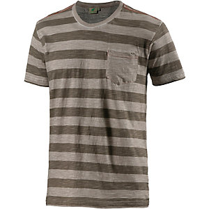 PrimEmotion Stripe T-Shirt Herren grau